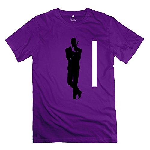 James Bond 007 Round Neck T-shirt For Men Purple M New Arrival T Shirt