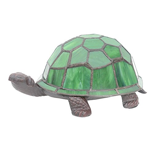 Turtle Accent Lamp Stained Glass Table Lamp Leaded Art Glass Night Light by HSRT (Image #1)