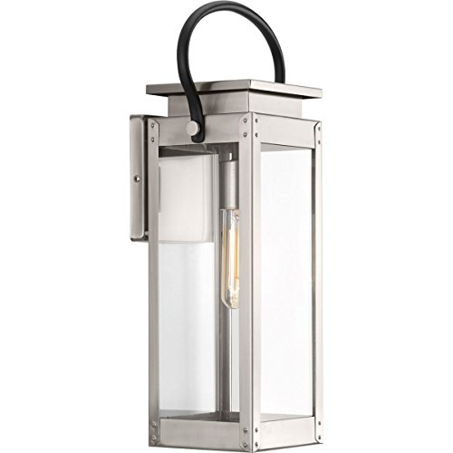 Progress Lighting P560005-135 Union Square One-Light Medium Wall Lantern, Stainless - Union Store Square