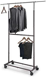 WALL MOUNTED CLOTHES RAIL in DEEP PINK Garment Shop Display 4ft 6ft 8ft x 1/""