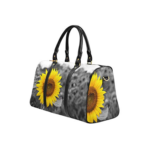 InterestPrint Carry on bag Travel Duffel Tote Unisex Weekender Bag Sunflower