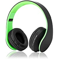 Dami Bluetooth Headphones, Hi-Fi Stereo Wireless Over Ear Headsets w/ Built-in Micphone, Foldable, Soft Memory-Protein Earmuffs, and Wired Mode for PC, Cell Phones, TV etc