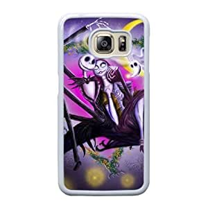 Grouden R Create and Design Phone Case,Nightmare Before Christmas Jack And Sally Cell Phone Case for Samsung Galaxy S6 Edge White + 1*Touch Stylus Pen (Free) GHL-2869820
