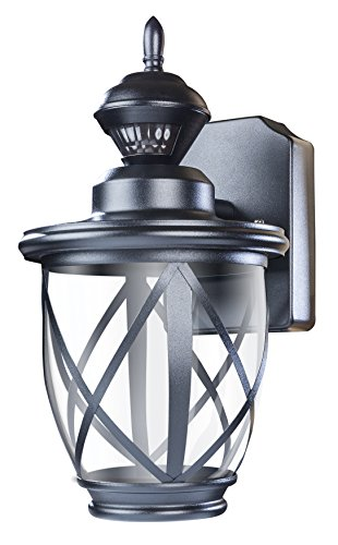 Heath Zenith HZ-4630-BK 500 Lumen LED Decorative Security Motion Light with Dualbrite Technology, Black by Heath Zenith