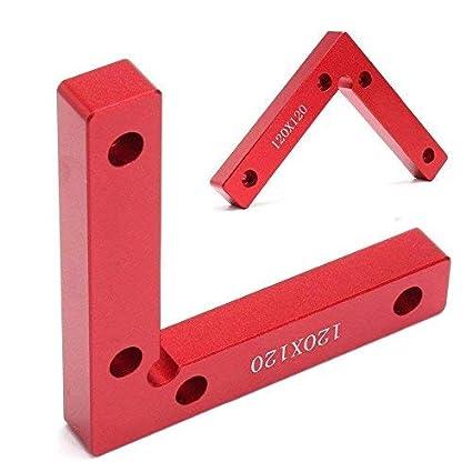 1pcs á ngulo recto posicionamiento cuadrados abrazaderas carpintero carpintero carpintero herramienta esquina abrazadera cuadrada aleació n de aluminio paquete de 1 Evwoge