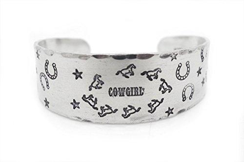 western jewelry, wide bracelet, horse, horse shoe, cowgirl, rodeo jewelry, bracelet, hand stamped jewelery, gift, montana, wyoming, texas