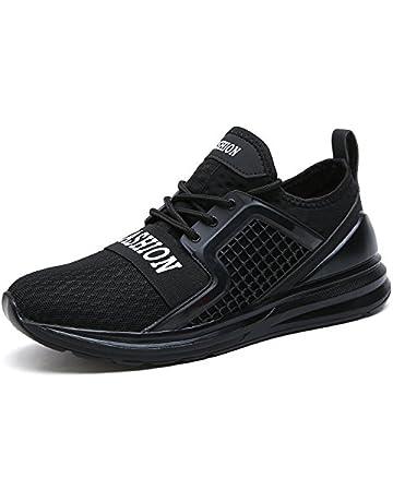 Zapatillas Deporte Hombre Mujer Deportivos Running Zapatillas para Correr  Aptitud Ligero Deportes Zapatos para Correr por 5643b676488