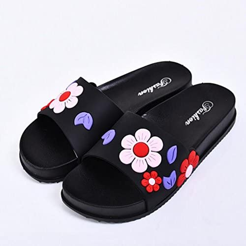 Colore : Red, Dimensione : 39 Heelinna Bellissimo Sandali da Donna Estate Bagno Pantofole a Forma di Ciabatte con Motivo Floreale