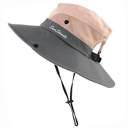 47f2bd87 Muryobao Women's Summer Sun Hat Outdoor UV Protection Foldable Wide Brim  Bucket Boonie Hats Beach Safari