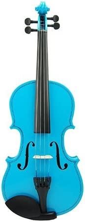 Meisel Spitfire Electric Violin Electric Violin /& Acoustic Violin 2 Pack Metallic Black w// Blue Acoustic Violin
