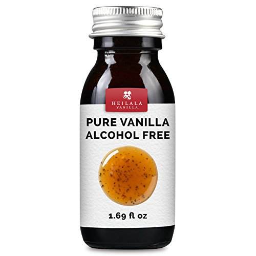Alcohol Free Pure Vanilla Extract - Made with Real Heilala Vanilla Pod Seeds, No Sugar, Organically Grown Beans, All Natural, Vegan, Raw, Superior to Mexican, Tahitian or Madagascan (Bourbon Vanilla Pods)