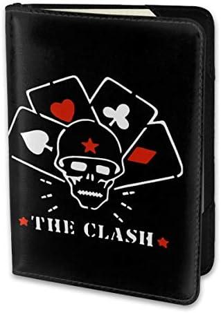ザ・クラッシュ The Clash パスポートケース パスポートカバー メンズ レディース パスポートバッグ ポーチ 携帯便利 シンプル 収納カバー PUレザー収納抜群 携帯便利 海外旅行 出張 小型 軽便