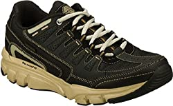 Skechers Men's Black/Taupe Relaxed Fit Accustomed 51288 8.5 D(M) US