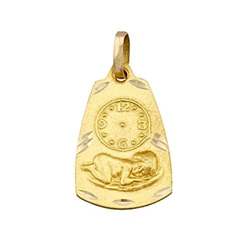 Médaille pendentif 18k heure d'or enfant Jésus [5023]
