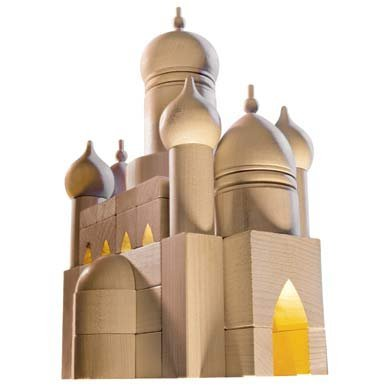 HABA Russian Cathedral Architectural Wooden Building Blocks - 55 Piece ()