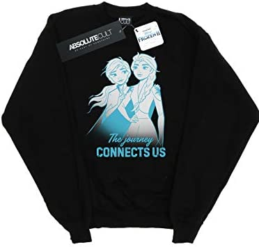 Disney Herren Frozen 2 ELSA and Anna The Journey Connects Us Sweatshirt Schwarz Medium