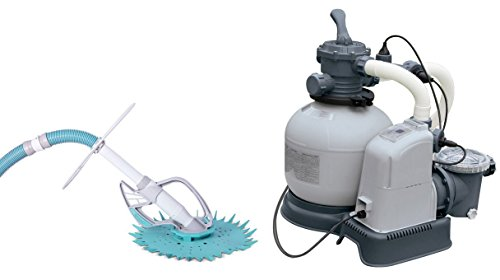 (Intex 2650 GPH Saltwater System & Sand Filter Pump Set with Kokido Butterfly Vac)