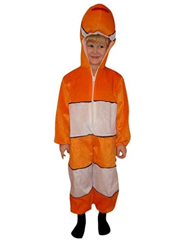 Themed Costumes Tropical Halloween (Fantasy World Fish Halloween Costume f. Children/Boys/Girls, Size: 9,)
