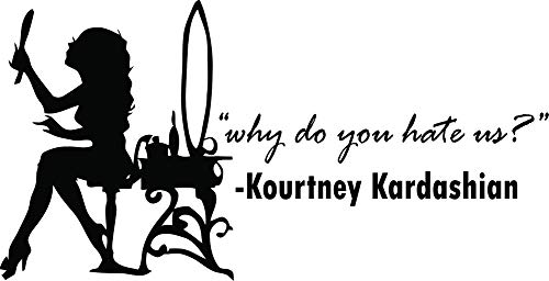 Keeping up with the Kardashians Show Quotes Quote / Kim Khloe Kourtney Kendall Jenner Kris Kanye Caitlyn Reality Tv women Wall decals decal sticker art decor for bedroom rooms mirror Size 20x20 inch
