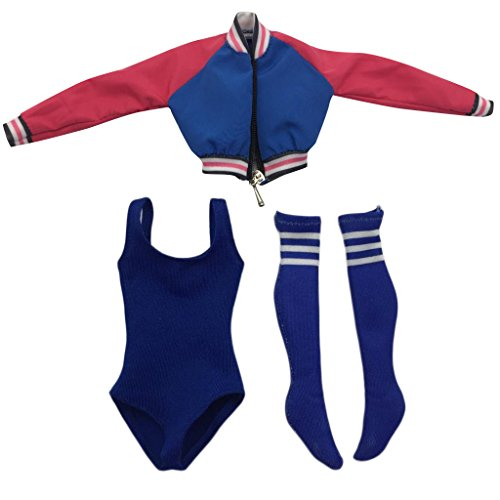 "Baoblaze 1/6 Scale Sports Wear Suit Coat Socks Women Stockings Clothing Clothes For 12"" Action Figure"