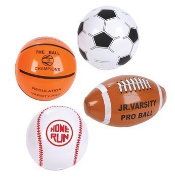 12 Mini SPORTS BALL Beach BALL Inflates/8 BASEBALL Basketball FOOTBALL SOCCER/INFLATABLE Party Favors by RIN
