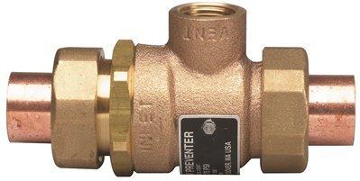 Watts Water Technologies 61926 Bronze Backflow Preventer 3/4'' Sweat Union, 5.75'' x 2.5'' x 2.25''