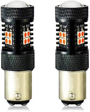 JDM ASTAR 非常に明るい 3000ルーメン ハイパワー 1157 2057 7508 LED電球 プロジェクター付き ブリリアントレッド