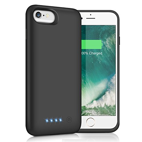 iPhone 6s/6 Battery Case 6000mAh, Yacikos Portable Charging Case Rechargeable Extended Battery Park for Apple iPhone 6s/6(4.7) Protective Charger Case Backup Power Bank Cover (Black)