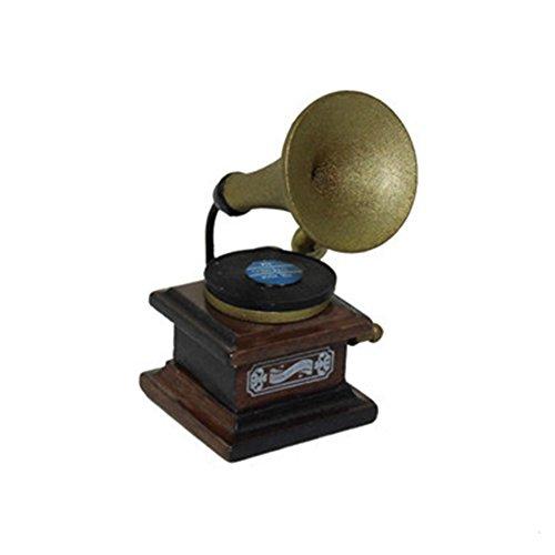 Himpokejg Divertido mini retro Gramophone modelo juguete para niños casa de muñecas miniatura decoración accesorios,...