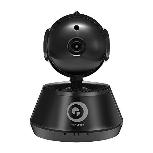 DIGOO DG-M1X Pan / Tilt / Zoom 960P IP-Kamera 3.6mm Objektiv IP-Kamera, 355 ° Horizontale & 90 ° Vertikale Drehung Haus Sicherheit Surveillance System mit Bewegungserkennung, Nachtsicht, Zwei-Wege-Audio, ONVIF-Unterstützung schwarz