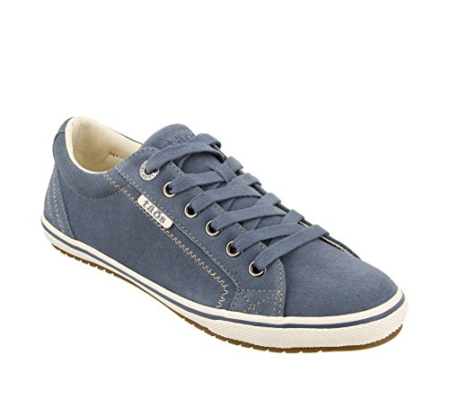Taos Women's Retro Star Blue Suede 9.5 B (M) US by Taos Footwear (Image #1)