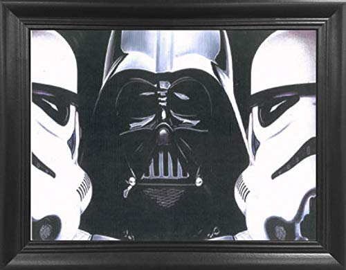 Star Wars Dark Force 3D Poster Wall Art Framed - Darth Vader & Storm Troopers 3D Lenticular Movie Posters - 14.5x18.5