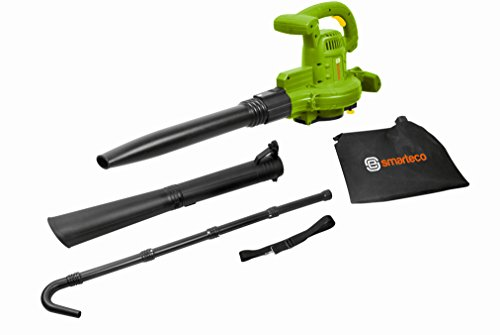 - SmartEco 12AMP Multi Purpose Leaf Blower Vacuum Mulching with 3M Extension Pole Gutter Cleaning Blower