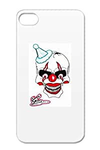 Art Design Tattoo Flash Designs CDs Twisted Ink Illustration Twisted Graphix Black TPU QuotKlownquot For Iphone 4 Case Cover