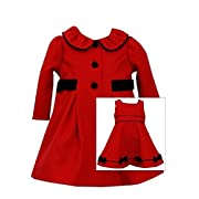 Bonnie Jean Baby-Girls Newborn Red Holiday Coat and Dress Set