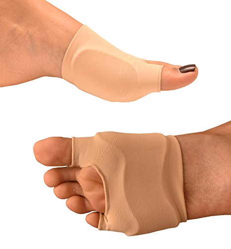 Medipaq® GEL Protection Sleeve - Cushions METATARSAL Head (Ball of Foot) – Plus Relief for BUNIONS on the Big and Little Toe Simultaneously