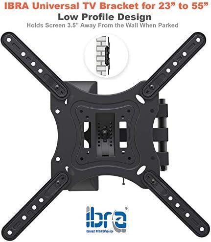 IBRA Ultra Slim Tilt Swivel TV Wall Bracket Mount Full Motion for 23-55 Inch OLED QLED LED LCD Plasma & Curved Screens