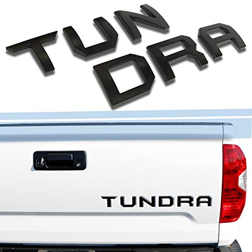 2015 Decals - SUBLIME INDUSTRIES Tailgate Letters Insert High Grade ABS Plastic [NOT DECALS] Compatible and Fits For Toyota Tundra 2014-2019 Nameplates- Matte Black