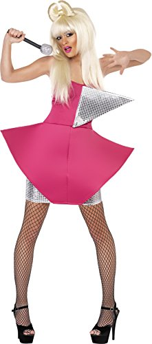 Smiffy's Women's Dance Diva Costume with Dress, Pink/Silver, Medium (Dancing With The Stars Costumes 2015)