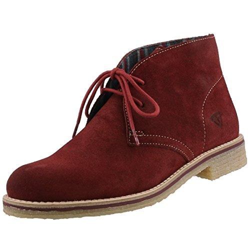 Tamaris 25108 - bota chukka de cuero mujer Rot (Terracota 588)