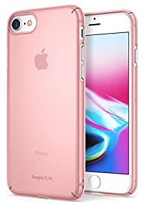 Ringke [SLIM] Apple iPhone 7 / iPhone 8 Case Snug-Fit Slender [Tailored Cutouts] Extreme Lightweight & Thin Superior Coating PC Hard Skin Cover - Frost Pink