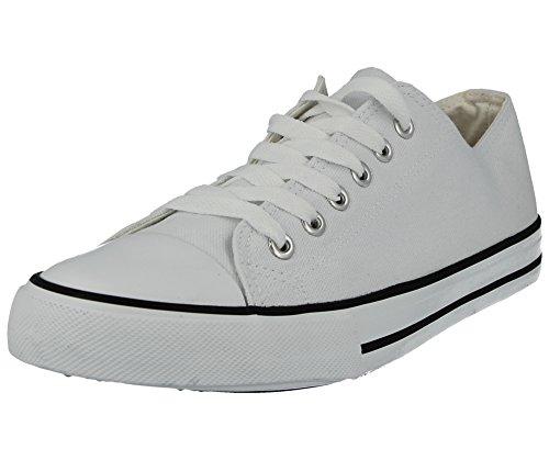 le per stringate scarpe 35 Casual basket 5 donne misure 42 di Scarpe Baltimore da bianche tela All Star 1qY6x6Z