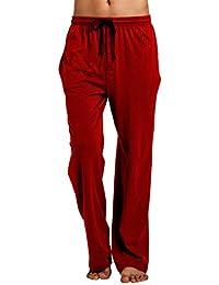 CYZ Men's 100% Cotton Jersey Knit Pajama Pants/Lounge Pants With Drawstring