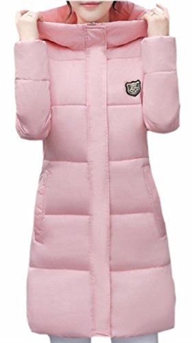 Casual Women's Down Pink Hoodie Jacket Coat today Cotton Outerwear UK Parka wC8caA
