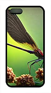 iPhone 5 5S Case Cute Little Animal Dragonfly TPU Custom iPhone 5 5S Case Cover Black