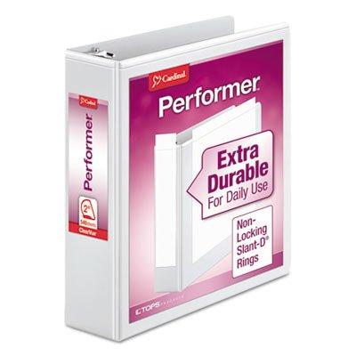 Cardinalamp;reg; Vinyl Clearvue Xtravalue D-Ring Presentation Binder, 2in Capacity, ()