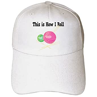This Is How I Roll Balls of Yarn Knitting Design - Adult Baseball Cap