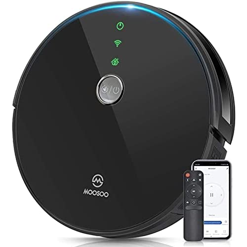 MOOSOO Robot Aspirador Compatible con Alexa y Google Assistant, con Navegación Inteligente, App Control,Anti-Colisionesc, 2300Pa,Silencioso, RT30 a buen precio