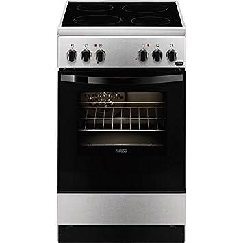 Zanussi ZCV550G1XA Independiente A Negro, Acero inoxidable - Cocina (Cocina independiente, Negro,