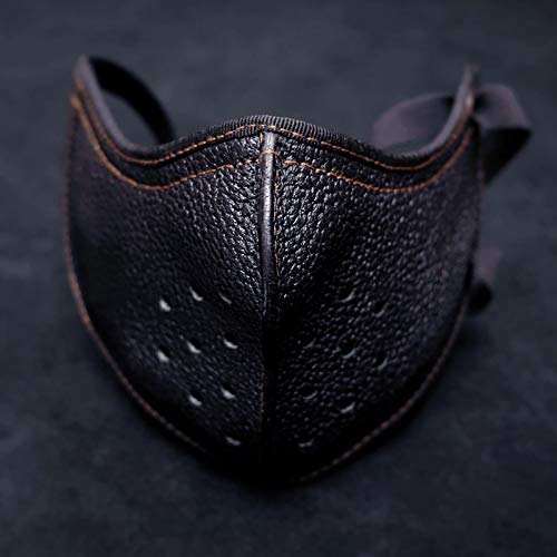 IHHI Christmas Face_Masks for Adults,Cycling leather masks, windproof, breathable, handsome and cool. (1-PC, Black)